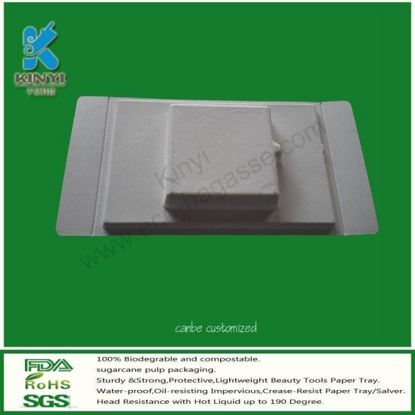 Quality Biodegradable Bagasse Packaging Trays, Electronic Packaging for sale
