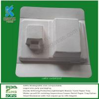Buy cheap Molded Pulp Electronic Packaging Trays, Bagasse Packaging Trays from Wholesalers