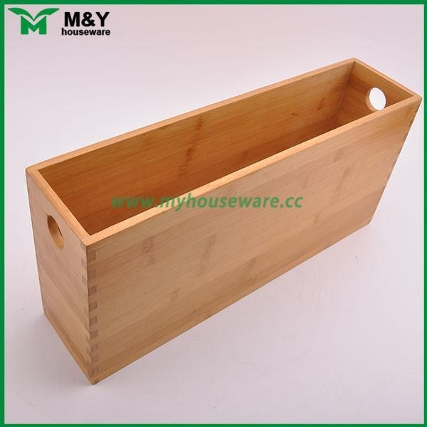 China MY2-6031 Bamboo Storage Organizer with Handle factory