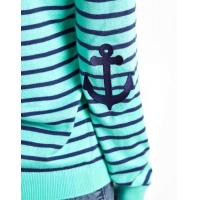 Buy cheap Women Elbow patch stripe sweater from Wholesalers