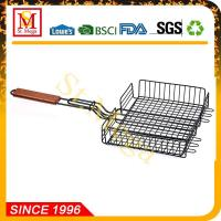 Buy cheap BBQ Grill Basket 24 x 12.8-Inch Non-Stick Rectangle Steak Basket from Wholesalers