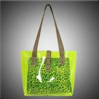Buy cheap Clear PVC Beach Bags with Animal Printing Inner Pouch from Wholesalers