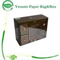 Buy cheap plain black print corrugated paper carton gift box with clear PVC window for wammer bag from Wholesalers