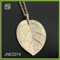 Newest design top selling fashionable women leaf necklace