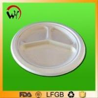 eco-friendly bagasse and wheat straw biodegradable disposable paper plate