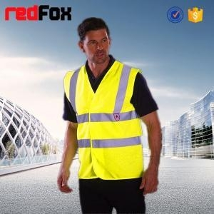 Quality quilted security red safety vest for sale