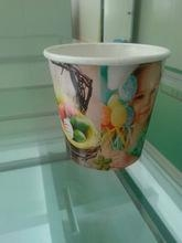 Quality paper flower pot Take Away Disposable Flower Planting Paper Cups for sale