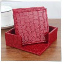 Buy cheap &Travel Organizer croco leather square in red from Wholesalers