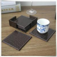 Buy cheap &Travel Organizer Brown crocodile leather coaster from Wholesalers