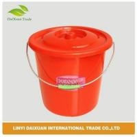 Durable plastic bucket with lid