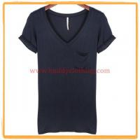 Buy cheap Women's Cotton V-Neck T-shirt w/ Pocket 11003 from wholesalers