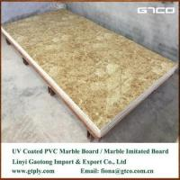 China UV coated PVC marble texture sheet for wall panel factory