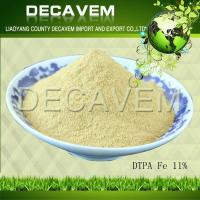 DTPA Fe, DTPA Iron chelated micronutrients fertilizer, yellow brown powder, Ferric 11%
