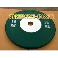 Quality 10KG Green Competition Bumper Plates wholesale