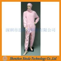 Buy cheap STD Anti-static crotch Zip Hooded Jumpsuit Welcome to order from Wholesalers