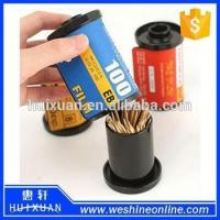 Plastic Film Novelty Toothpick Holder / Promotional Toothpick Box Dispenser