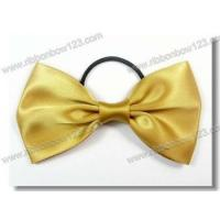 China Ribbon Bows on Bottle satin bow tie with elastic for perfume bottle factory