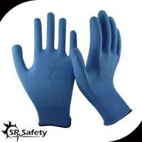 Buy cheap 13 gauge knitted nylon liner coated water-based PU on palm gloves from Wholesalers