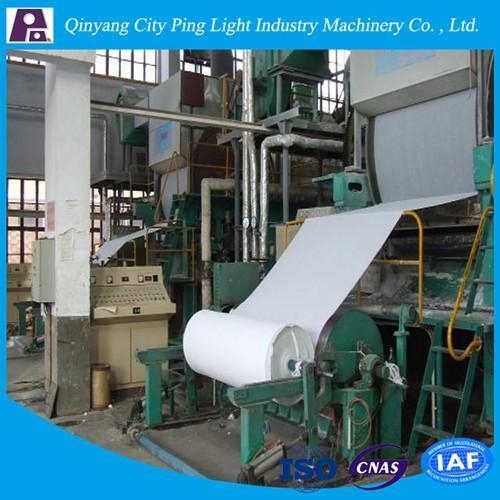 Quality Manufacture of 1092mm Toilet Tissue Paper Production Line Made from Rice Straw/Reed for sale
