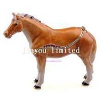 Buy cheap TBP0014Y-horse trinket jewelry box horse figurine statue metal home decor from Wholesalers