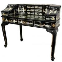 China Fine Lacquer Furniture Lacquer Lady's Desk w/ Mother of Pearl factory