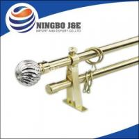 China Fancy Window Curtain Rod With Glass Curtain Finial on sale