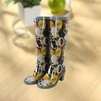 Buy cheap Sexy lady flower vase printing rubber rain boot from Wholesalers