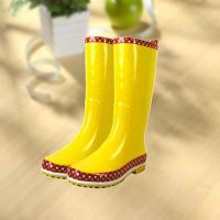 Buy cheap Fashion shiny smooth yellow woman rubber rain boot from Wholesalers