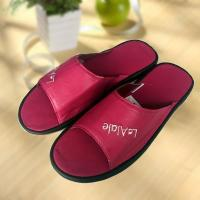 Buy cheap Rose red cool Imitation ox-tendon sole leather slipper from Wholesalers