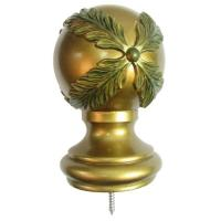 China Curtain Rods And Accessories For Window Treatment, wooden curtain rods finial on sale