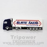 Buy cheap SURTE truck Custom Shape Rubber USB Drive from Wholesalers