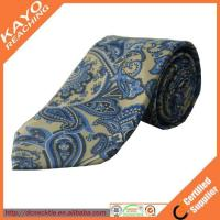 Buy cheap fashion blue color printed paisley tie from Wholesalers