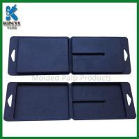 Buy cheap Customized Black Color Biodegradable Fiber Pulp Molded Packaging Boxes from Wholesalers