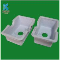 China biodegradable molded paper pulp packaging tray on sale