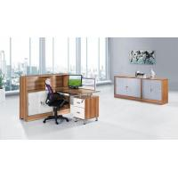 One Seat Staff Table Modern Wooden Workstation L Shape Office Partition HX-4PT003