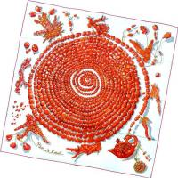 Buy cheap Silk Twill Screen Print Scarf from Wholesalers