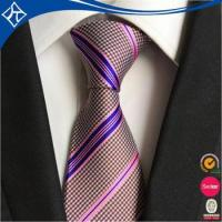 Buy cheap low moq 10 private label polyester strip tie from Wholesalers