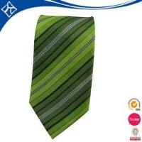 China high quality custom color green stripe tie factory