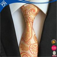 China best popular low moq 10 sunflower yellow man tie factory