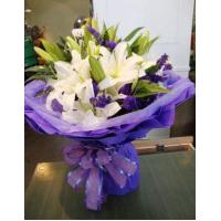 Buy cheap Birthday 6 stem lilies with statice delivery NO.1 birthday gift to austr from Wholesalers
