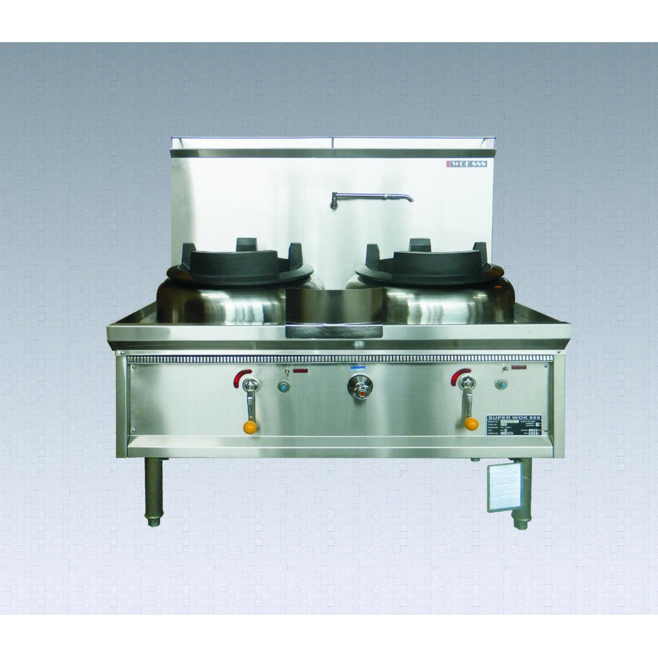 Buy cheap Inlet/Outlet Bench Super Double Burners Gas Wok Range from wholesalers