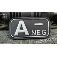 Buy cheap PVC Velcro Patch Blood Type Patch with velcro A NEG from Wholesalers