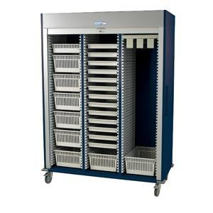 China Preconfigured Triple Column Medical Storage Cart with Tambour Door #MS8160-CYSTO factory