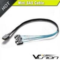 Buy cheap Internal Mini-SAS SFF-8087 to 4 SATA left angle fanout Cables from Wholesalers