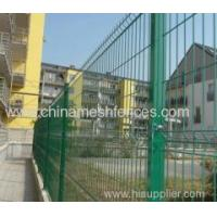 green PVC coated high security curved fence panel