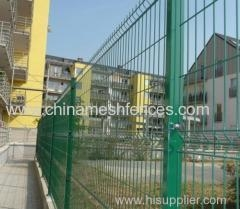 China green PVC coated high security curved fence panel factory