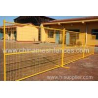 Buy cheap yellow powder coated 6'*9.5' coated Canada temporary fence panel from wholesalers