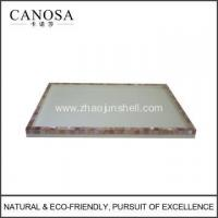 Buy cheap Hotel Resin Amenity Tray with Pink Shell from Wholesalers