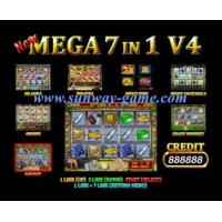 Buy cheap Game board Slot machine New Mega 7 in 1 V.4 Yellow color casino game board from Wholesalers