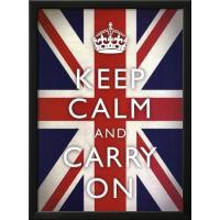 China Motivational Keep Calm and Carry On (Motivational Union Jack Flag) Art Poster Print on sale